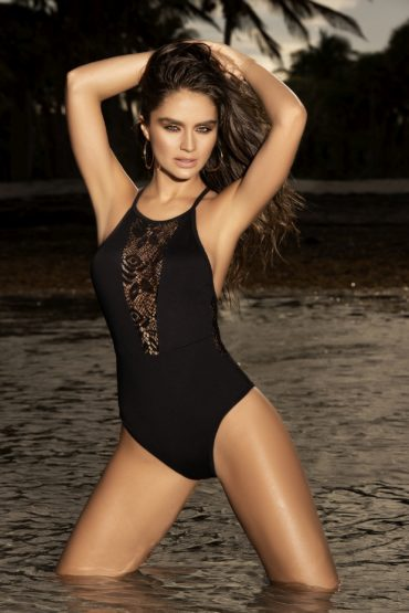 Mapale Small Black One Piece Swimsuit